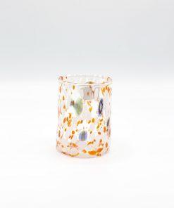 Plutone bicchiere arancio murano