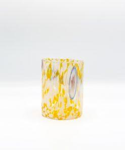 Plutone bicchiere giallo murano