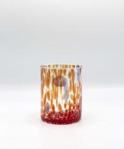 Plutone bicchiere rosso murano