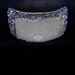Square plafoniera cristallo bianco